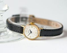 Micro watch Seagull gold plated women's watch petite by SovietEra