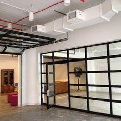 Lovely NY Loft   Black Aluminum Garage Door U0026 Clear Glass With Passing Door   ETO  Garage