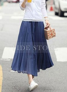 Shop Charming Pleated Bohemia Style Hem Chiffon Long Skirt on sale at Tidestore with trendy design and good price. Come and find more fashion Long Skirts here. Long Chiffon Skirt, Midi Skirt, Long Dresses, Cheap Dresses, Bohemia Style, Fashion Dresses, Tulle, Charmed, Skirts