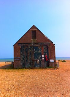 The old Mary Stanford Lifeboat House on the beach near Rye Harbour Rye Harbour, Emigrate To Australia, Romney Marsh, Seaside Garden, The Lives Of Others, Ragnar, East Sussex, Nature Reserve, Surrey