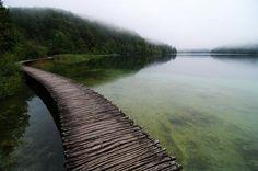 Wooden Footbridge, Plitvice Lakes National Park, Croatia
