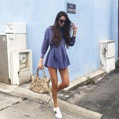 @stelouchebabouche in the Blue Crush Origami Dress from #SolsticePromises #SJsisterhood