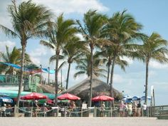 Sharkey's on Venice Beach, FL - another great place to eat and enjoy the view!