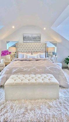 Bedroom Decor For Teen Girls, Cute Bedroom Ideas, Room Ideas Bedroom, Small Room Bedroom, Bedroom Furniture, White Bedroom, Bedroom Ideas For Teens, Girl Room Decor, Modern Teen Bedrooms