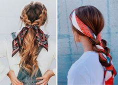 Bruna Ribeiro: CABELO: PENTEADOS COM LENÇOS Headband Hairstyles, Cute Hairstyles, Braided Hairstyles, Hair Upstyles, Tumblr Girls, Hair Pins, Hair And Nails, Hair Beauty, Women's Beauty