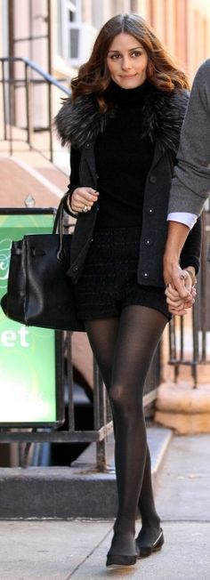 olivia palermo style all black