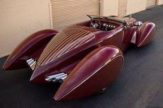 (pic 1). 1937 Designed by Chip Foose Studebaker (Custom) Boattail Convertible Speedster via art deco