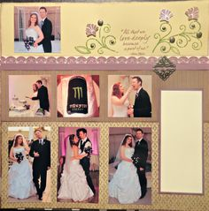 """Wedding Scrapbooks:  And keep in mind the first anniversary is """"paper""""."""