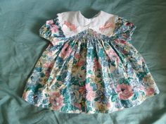 Vintage Flowered Baby Dress by Polly Flinders