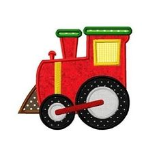 Train Engine 2 Applique - 3 Sizes!   What's New   Machine Embroidery Designs   SWAKembroidery.com Dollar Applique