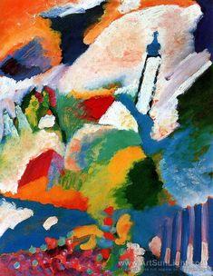 Wassily Kandinsky – kościół w Murnau (Błękitny Jeździec (niem. Der Blaue Reiter)