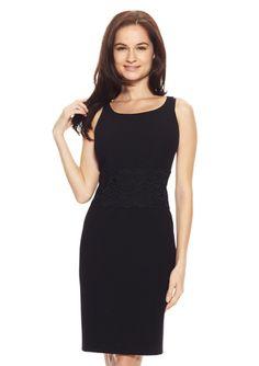 "JONES NEW YORK Lace Midriff Sheath Dress..We ALL need that perfect ""little black dress"""