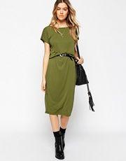 ASOS Bodycon Midi Dress with Drape