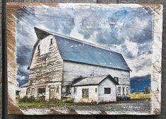 Old Blue Barn Fine Art Photograph Manually Transferred to Reclaimed Wood and Ready to Hang in Your Home Custom Wall, Old Buildings, City Girl, Decorating Your Home, Im Not Perfect, My Photos, Barn, Things To Come, Fine Art
