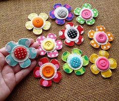 Pretty Flower Drawing Pins