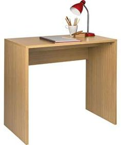 Miami Office Desk - Oak Effect.