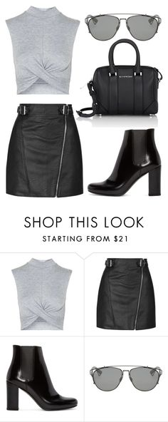 """Untitled #210"" by alisya97 ❤ liked on Polyvore featuring Topshop, Yves Saint Laurent, Christian Dior and Givenchy"