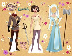 Tangled: The Series - Cassandra and Rapunzel paper dolls Paper Doll Craft, Doll Crafts, Paper Toys, Disney Paper Dolls, Barbie Paper Dolls, Frozen Paper Dolls, Paper Dolls Clothing, Doll Clothes, Cassandra Tangled