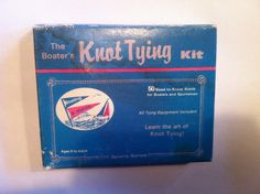 vintage The Boater's Knot tying Kit can be a game by stockintrade
