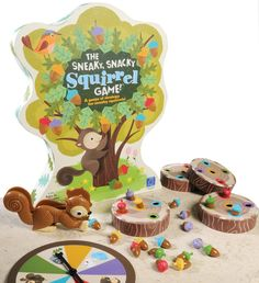 Play The Sneaky, Snacky Squirrel Game from Educational Insights and strengthen your skills pertaining to matching & sorting, strategic thinking, hand-eye coordination, fine motor skills & pre-handwriting skills. Preschool Board Games, Board Games For Kids, Games For Toddlers, Preschool Learning, Toddler Preschool, Learning Resources, Teaching, Family Game Night, Family Games