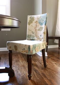 chair slipcover french country natural cotton muslin chair slip cover shabby frayed ruffle. Black Bedroom Furniture Sets. Home Design Ideas