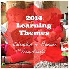 Weekly Learning Themes for tot school & preschool Free Planner & Calendar Download from @ALLterNATIVElrn {Kara Carrero}