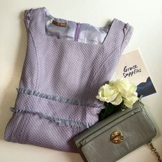 Lovely Lilac Texture-patterned Sheath Dress (XS & S) on Carousell