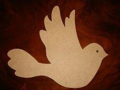 Bird Unfinished Mdf Wood Mosaic Base/Craft Shape Small by zzbob, $5.50