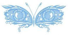 Owl eyes machine embroidery design. Machine embroidery design. www.embroideres.com