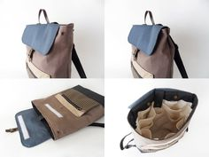 Waterproof lining available Diaper Backpack, Laptop Backpack, Leather Backpack, Diaper Bag, Brown Canvas, Blue Canvas, Waxed Canvas, Stylish Backpacks, Market Bag