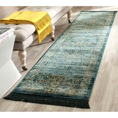Shop for Safavieh Serenity Turquoise/ Gold Rug (2'3 x 8'). Get free shipping at Overstock.com - Your Online Home Decor Outlet Store! Get 5% in rewards with Club O!