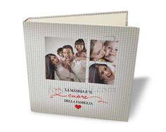 Album Tessuto quadrato con collage per la #festadellamamma
