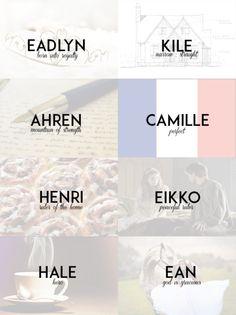 Namen von The Heir // The Selection Series - Autoren-Tipps -