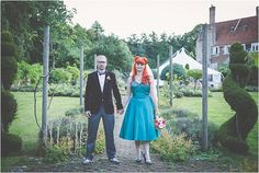 A Psychedelic 1950'S Inspired Wedding... Creative & Alternative wedding styling. Photo by My Beautiful Bride as featured on Mr & Mrs Unique Wedding Blog www.mrandmrsuniqueweddingblog.co.uk