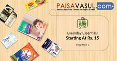 Snapdeal Offers: Everyday Essentials Starting At Rs.15. http://www.paisavasul.com/code/snapdeal-offers-everyday-essentials-starting-at-rs-15