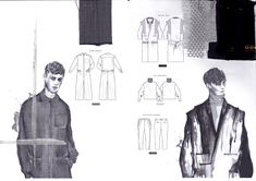 Ideas Fashion Design Sketches Man Student Portfolios For 2019 Fashion Design Portfolio, Fashion Design Drawings, Drawing Fashion, Textiles Sketchbook, Fashion Sketchbook, Sketchbook Ideas, Fashion Illustration Sketches, Fashion Sketches, Dress Sketches