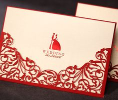 Classic Red Paper Cut Wedding Invitations Cards with Envelopes and Seal, Printable and Customizable, Wholesale Available-in Event & Party Supplies from Home & Garden on Aliexpress.com