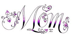 "Purple ""mom"" tattoo"