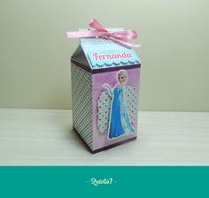 Papelaria Personalizada - Tema Frozen  Caixa Milk