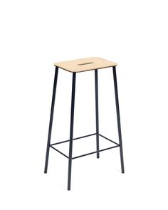 Adam Stool 75cm | Steel / Leather | Design by Toke Lauridsen | Produced by Frama | Photographed by Michael Falgren