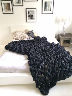 Chunky knit blanket (hva)