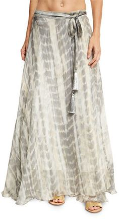 Flora Bella Sandals Tie-Dye Silk Maxi Skirt, Brown  https://api.shopstyle.com/action/apiVisitRetailer?id=609863942&pid=uid2500-37484350-28