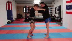 Fight gifs — muaythaigifs:   Darren O'Connor demonstrates two...