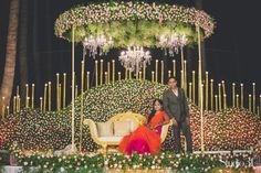 Towards Better And Eco-Friendly Wedding Planning That Saves A Lot Of Wastage Reception Stage Decor, Wedding Stage Backdrop, Wedding Stage Design, Reception Backdrop, Wedding Stage Decorations, Wedding Mandap, Backdrop Decorations, Flower Decorations, Backdrops