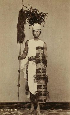 """""""The first champion of Manado"""", North Sulawesi. 1870"""