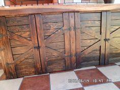 Puertas muebles de cocina hechas de palets