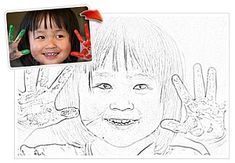 Photo Pencil Sketch--photos to coloring pages for kids! Coloring Book Pages, Coloring Sheets, Adult Coloring, Activities For Kids, Crafts For Kids, Little Presents, Ecole Art, Paper Crafts, Diy Crafts