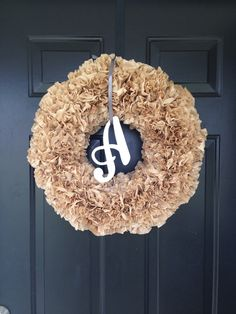A personal favorite from my Etsy shop https://www.etsy.com/listing/267496613/initial-coffee-filter-wreath