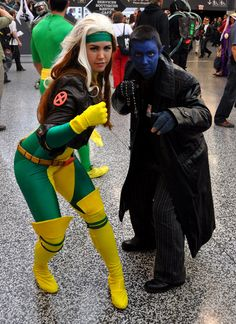 Rogue and Nightcrawler, Montreal Comic Con 2013.