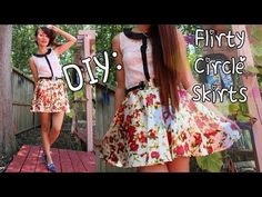 ♡DIY: Simple Circle Skirt {Back To School} works great and already tried it! Diy Circle Skirt, Circle Skirt Tutorial, Circle Skirts, Geek Fashion, Diy Fashion, Fashion Design, Diy Clothing, Sewing Clothes, Skater Skirt Pattern